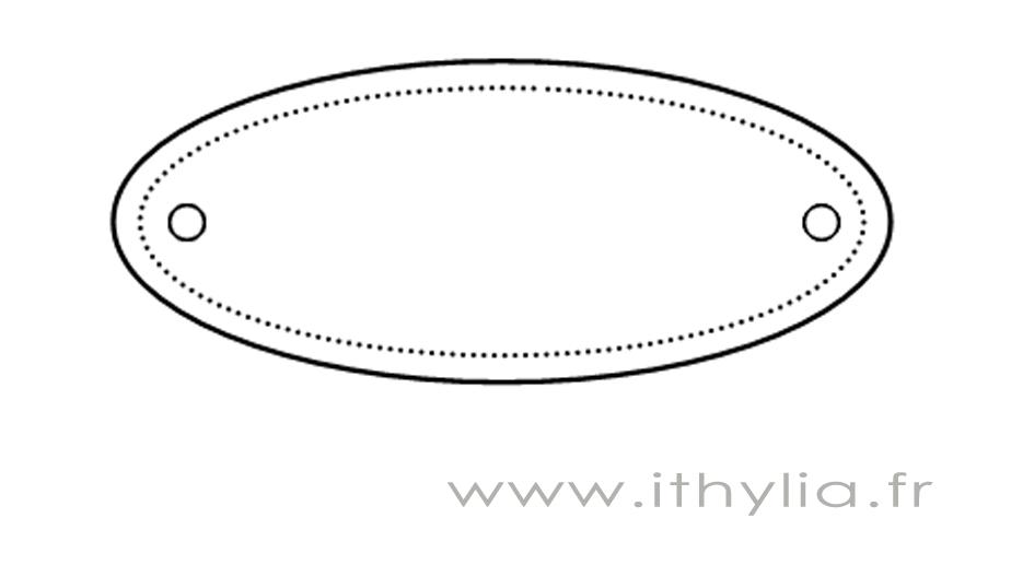 230 : Découpes scrapbooking forme tag grand modèle : Embellissements par