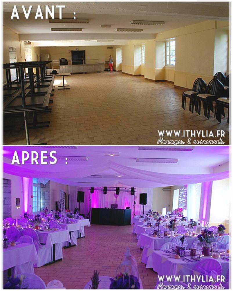 decoration salle mariage avant apres